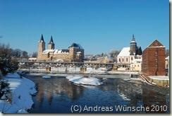 Blick zum Schloss und Schlossmühle