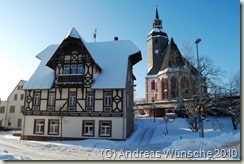 Villa Haberkorn und Petrikirche